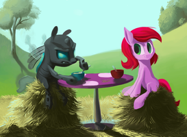 Awkward Breakfast Time! by JustDayside