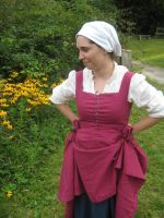 The Pink Linen Test Kirtle by CenturiesSewing