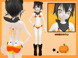 MMD:: Halloween Candycorn Imp by cure-capsule