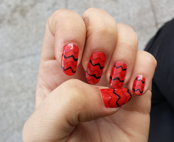 tribal nail art by niqitaMonster