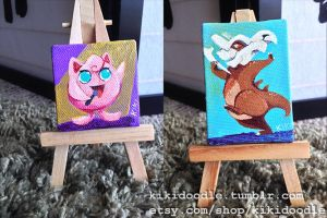 Mini Poke-paintings 4 by kiki-doodle