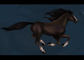 Free Running Horse by bubblez