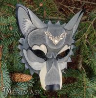 Leather Wolf Mask for The Band Perry by merimask