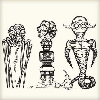Sketching Some Aliens by luke314pi