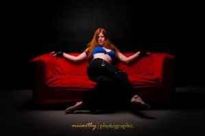 red couch by Trihesta