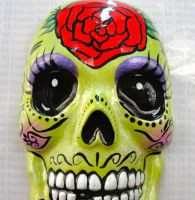 DAY OF THE DEAD SKULL by ArteDeMiFamilia