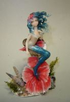 Sapphire Mermaid by Fairiesworkshop