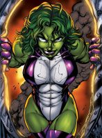 She-Hulk by inker guy XGX by knytcrawlr