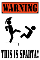 Warning - This is Sparta by barenakedtshirts