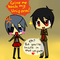 Ciel x Sebas, Uniform by ChiKirarin