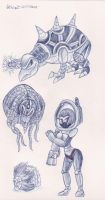 Pen Sketch Creatures 3 by megadrivesonic