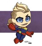 LittleBigHead CaptainMarvel by Kidnotorious by VPizarro626