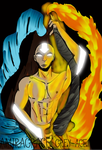 Avatar Aang _The avatar state by AmiraGrace