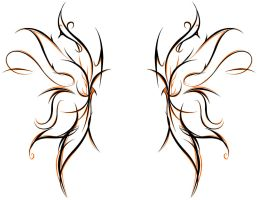 Tribal Butterfly by youxknowxnothing