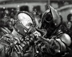 Bane vs Batman (The Dark Knight Rises) by Giova94