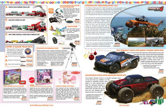 Maniacs Hobby Holiday Catalog 2013 - Pages 5-6 by jPhive