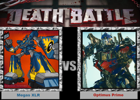 Death Battle-(Fan)-Megas XLR vs. Optimus Prime! by XPvtCabooseX