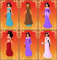 Princess Jasmine's Wardrobe by LadyAquanine73551