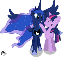 Princess Luna and Twilight Sparkle: Best Friends by TBCroco