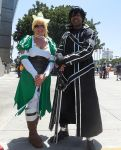Leafa and Kirito by R-Legend
