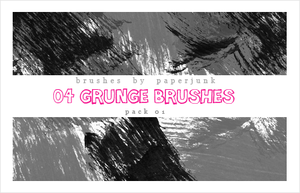 Brushes Pack 01: Grunge by PaperJunk