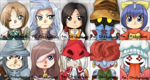 Otakuthon- ff9 Keychains by T3hb33