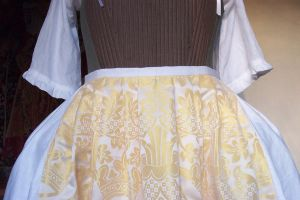 finished petticoat pleating by Janes-Wardrobe
