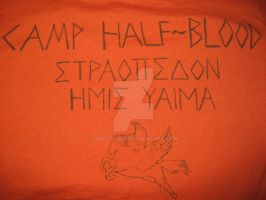 PERCY JACKSON Camp shirt close up by Nobody426