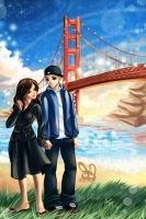 Golden Gate - Commission by bw-inc