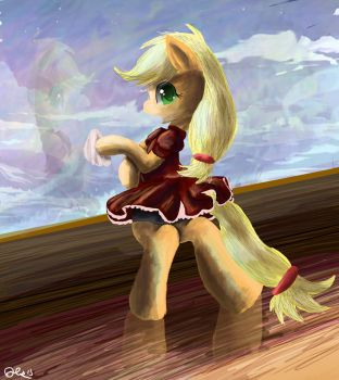Applejack Maid outfit by SuperRobotRainbowPig