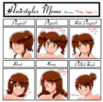 Different hairstyles meme: Argentina by FlopyLopez