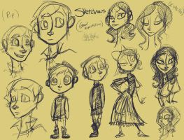 Great Expectations Char sketches by Alias-Hugo