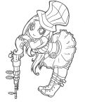 Caitlyn Chibi [lineart] by SpigaRose