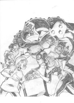 BATGIRL roughs COVER 1b 001 by waydre