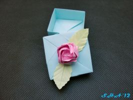 origami box with rose by sushann