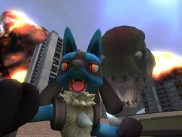 OH MY GOD RUN LUCARIO RUN by VortiLikesWave