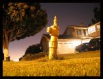 The Fire Hydrant Stands Alone by pandabear517