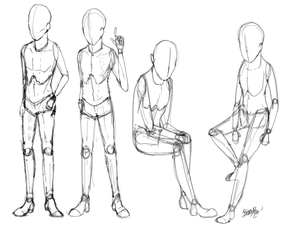 Anatomy Study: Male Puppet
