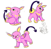 Pink One Eye Beastie adoptable [closed] by The-Bleached-Dalsuta