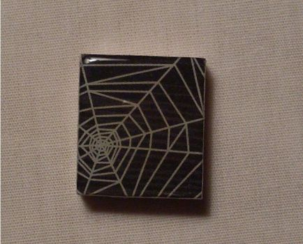 Spiderweb Scrabble Pendant by PastryStitches