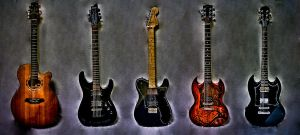 Some of my guitars by JoshGoesKaboomKaboom