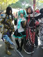 Cosplay Warcraft - Medivh - Paladin Blood Elf Miku by Lord-Omega83
