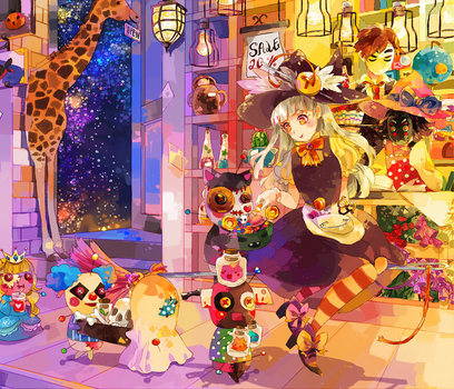 CE - Suzette's halloween shopping by Milchiah