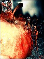 apple vs water by Liebegaby