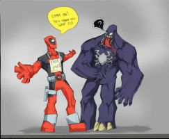 DEADPOOL GIVES FREE HUGS! by Sabrerine911