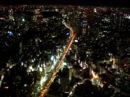 Tokyo from the sky by worldpitou