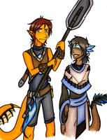 Kaito and Quell by trilly-ankh