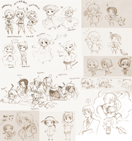 3rd set of Hetalia Doodles by Kjbionicle