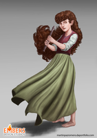 Female Halfling by martinpazromero