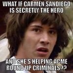 Keanu Reeves and the Carmen Sandiego Theory by BenJJedi